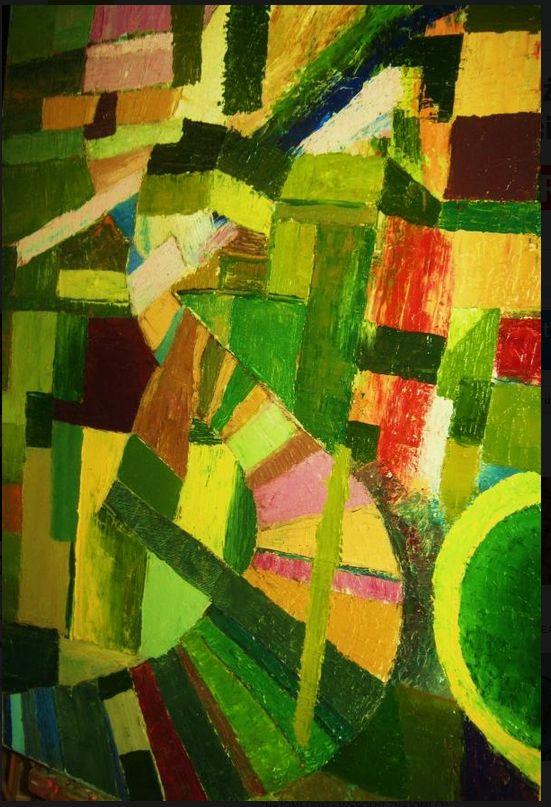 Oil on canvas, original by Cezary Zyndzo.