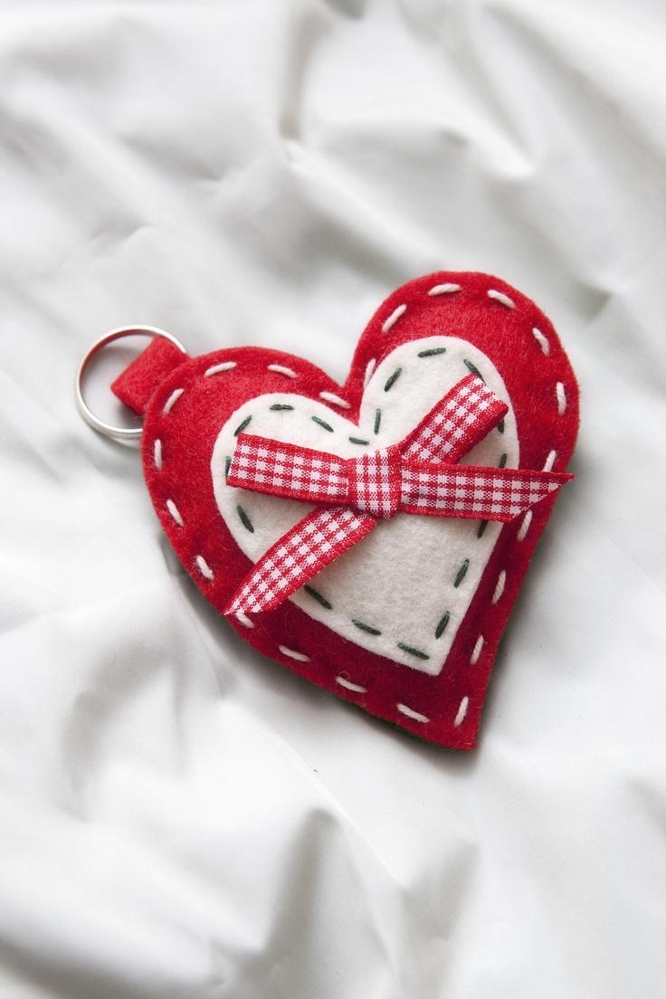 Cuore Portachiavi *Le Chips di Feltro* - Heart Keychain Felt