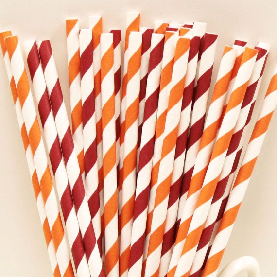 Paper Straws, Virginia Tech Team Colors Party Straws Mix, Hokies, Tailgate, Drinks, College, Football, Team Colors, Sports Night, Super Bowl...
