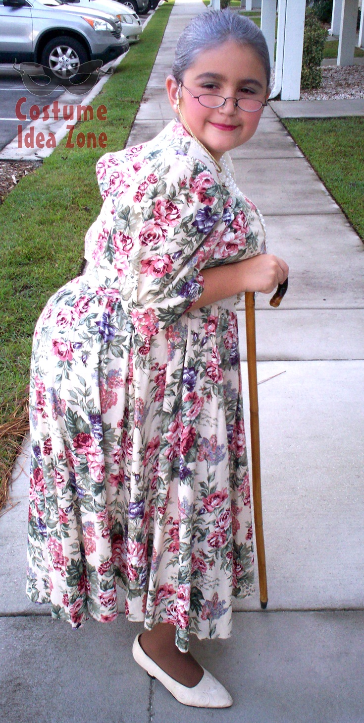 Granny costume - don't buy when you can make it yourself! We can help - at the Costume Idea Zone.