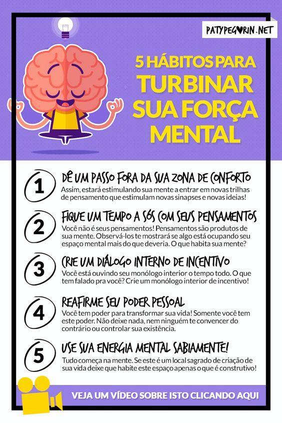5 hábitos para turbinar sua força mental! Veja um vídeo sobre isto em: http://patypegorin.net/forca-mental/