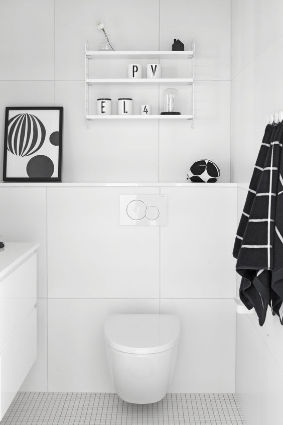 Via Matthijs Kok | Nordic White Bathroom | Design Letters