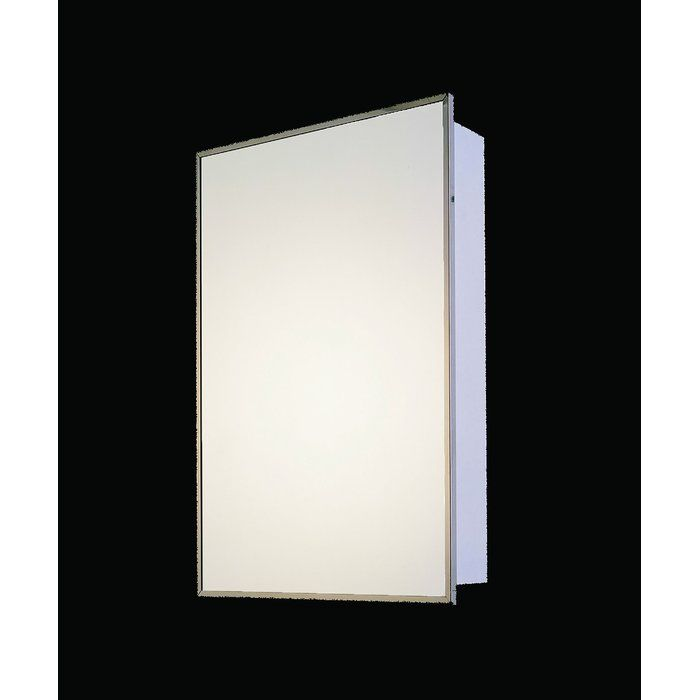 Ebern Designs Fagundes 14 X 20 Recessed Medicine Cabinet Wayfair Adjustable Shelving Wall Mounted Mirror Mirror Interior