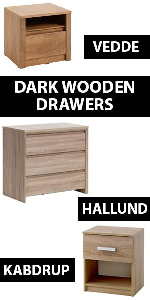 Dark wooden furniture can start simple in 2018, with a few wooden drawers. Test out this trend with a bedside table or small chest of drawers to see if it works for your home.