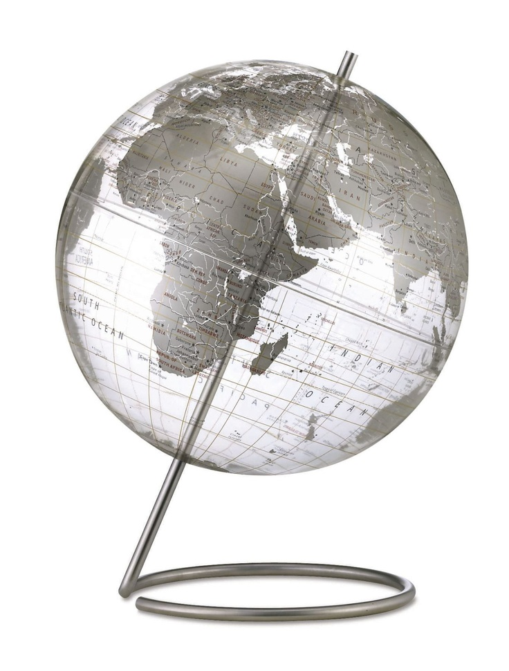 20 best globes world maps images on pinterest maps world replogle crystal marquise transparent silver world globe gumiabroncs Gallery
