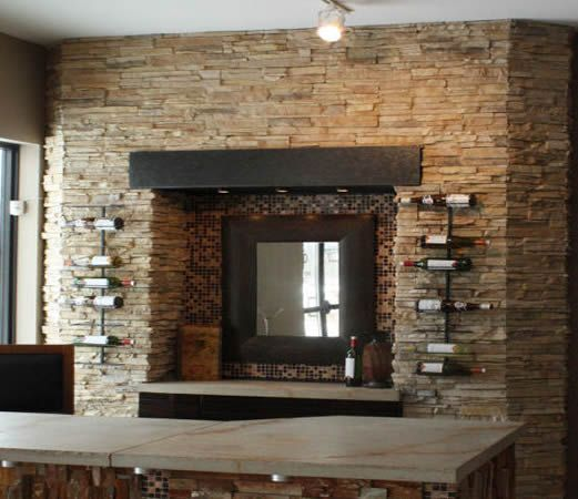 Eldorado stacked stone dry creek fireplace for Eldorado outdoor fireplace