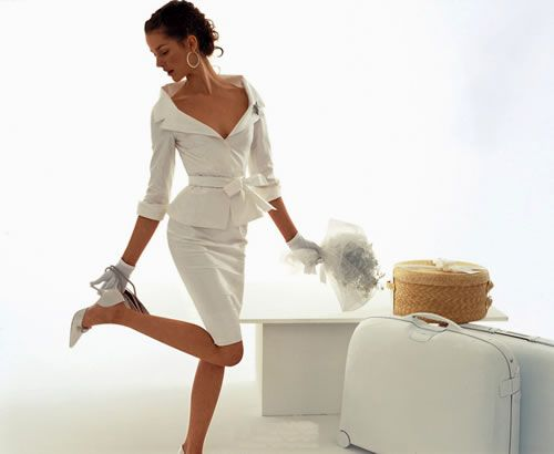 Women's Suits | Tip: keep it white so the public knows that your the bride!