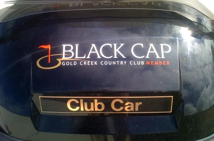 Black Cap - Gold Creek Country Club Golf Cart Signage design & development