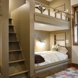 bunkbeds basementGuest Room, Ideas, Kids Bedrooms, Bunk Beds, Kids Room, Kidsroom, Custom Home, House, Bunkbeds