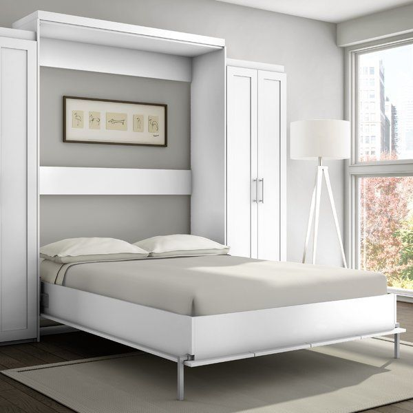 This murphy bed has been created for people in need of space saving. The Murphy bed is attractive and quite practical. It is equipped with a superior European mechanism that flips the bed open and closed.