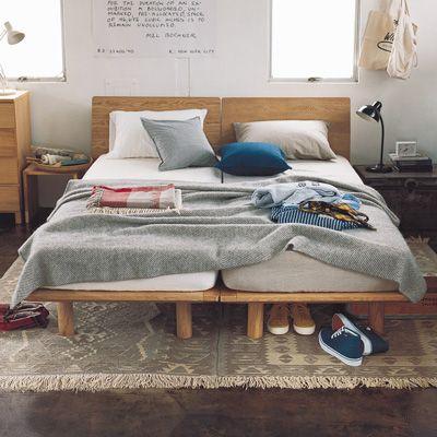 シンプル&多機能選べます♪無印良品の木製ベッドフレームまとめ