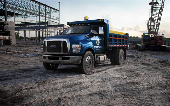 Download wallpapers Ford F-650, trucks, 2017 truck, cargo transport, new F-650, Ford