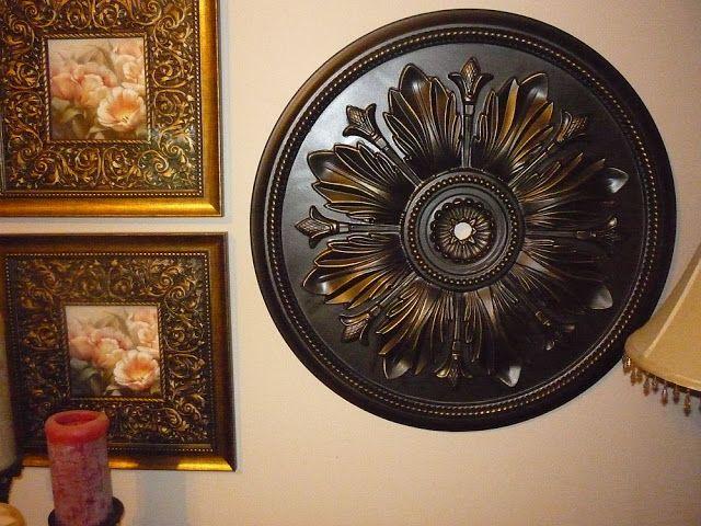 Ceiling Medallion as Art - Remodelaholic