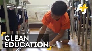 Japanese Students Clean Classrooms To Learn Life Skills - YouTube