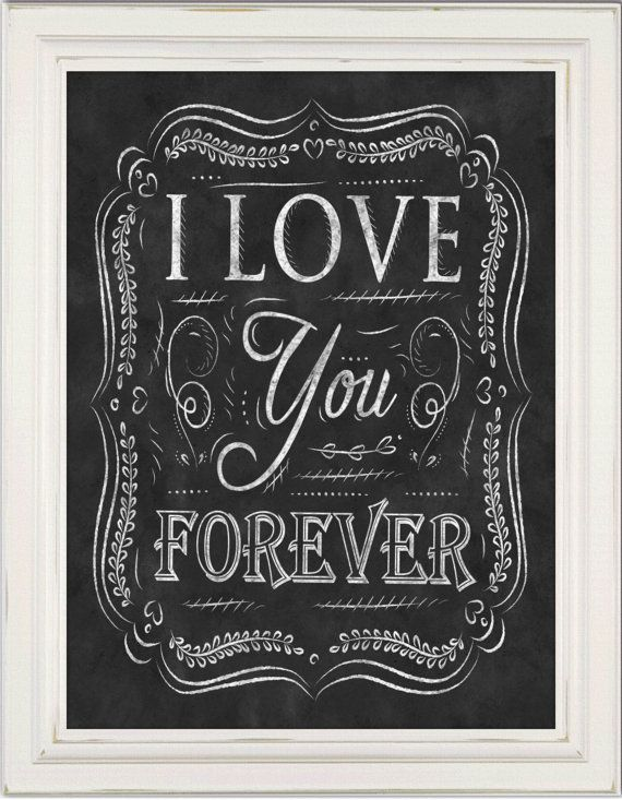 Wall Art  Chalkboard Valentine's Day Print by TimelessMemoryPrints, $20.00