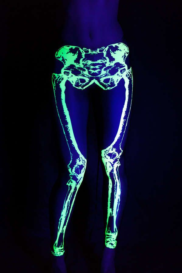 Glowing Skeletal Leggings (UPDATE) - Neon Leg Bones ....is it weird I want these for disney??
