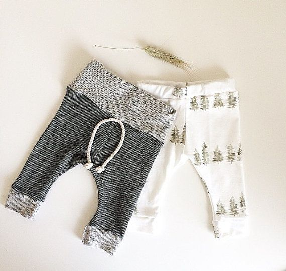 Baby Leggings - The Hudson Pant, Grey and Brown Speckled on French Terry, Skinny Sweats