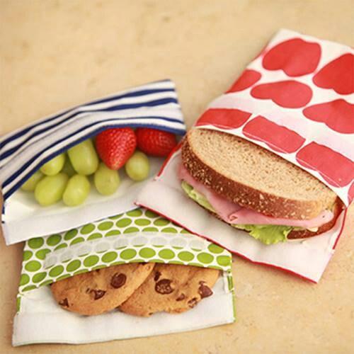 Reusable lunch bags instead of zip lock bags!