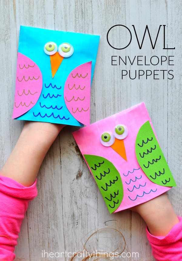 These adorable envelope owl craft puppets are super cute, simple to make and are perfect for a fall kids craft or bird craft.