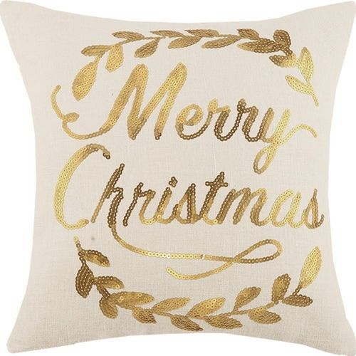 Merry Christmas Pillow with Sequins - LOW STOCK ORDER NOW!