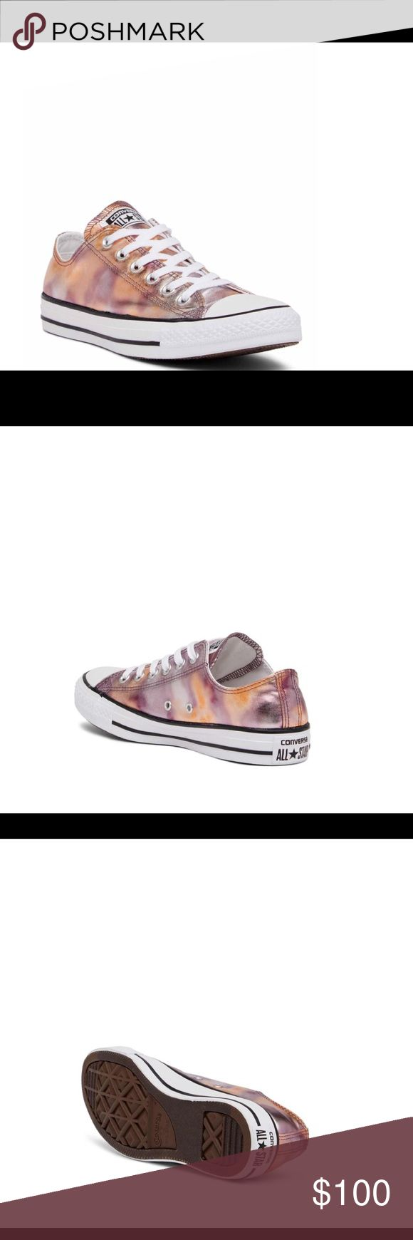 Coming Soon! Metallic Covered Chuck Taylor ~Like this listing to be offered a discounted price when available for purchase!~ Coming Soon! Metallic Covered Chuck Taylor All Star Sneaker Lace up Pink and White Unisex Listed as the women's sizing See photo unisex sizing chart 3 Men's is women's 5  5.5 Men's is women's 7.5 8 Men's is women's 10 Converse Shoes Sneakers