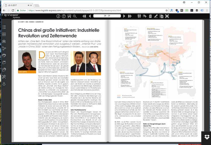 Chinas drei große Initiativen: 4. Industrielle Revolution und Zeitenwende - https://www.logistik-express.com/chinas-drei-grosse-initiativen-4-industrielle-revolution-und-zeitenwende/