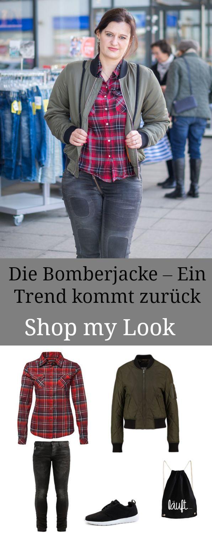 Casual Street Style Look mit Bomberjacke und Karohemd - Modetrends 2017