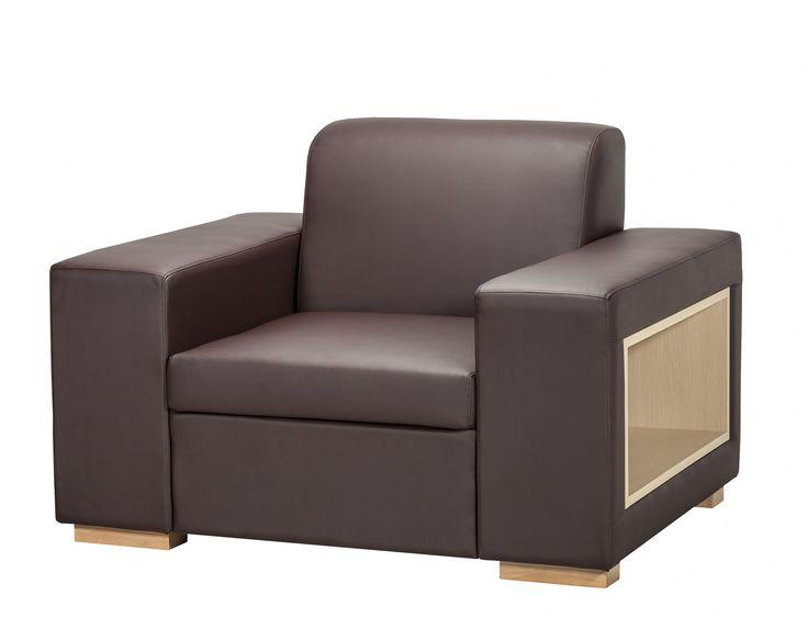 A-maze Armchair / Colour: Chocolate (eco leather) #comfort #armchair #storage #shelf #cozy