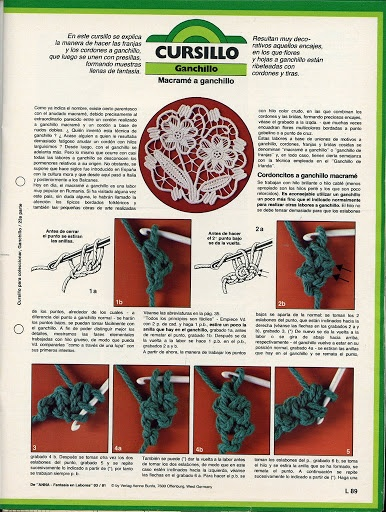 Romanian Point Lace in Anna Burda needlecraft magazine issue March, 1981. Spanish language - macrame a ganchillo