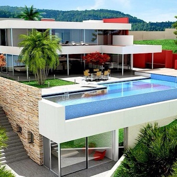 stunning pool and house combination on the 2nd floor pools pinterest 2nd floor the o