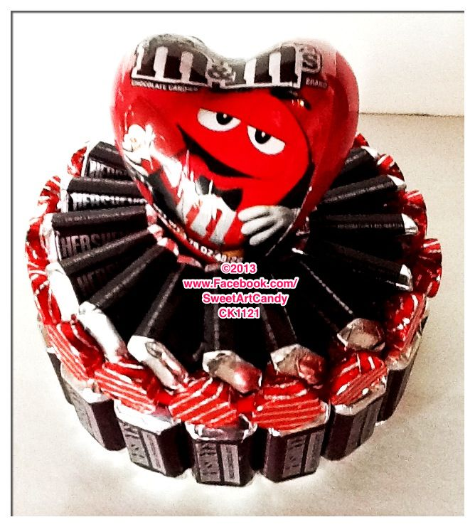 """CK1121 HERSHEY'S BAR HEART CAKE Sweet Art Candy """"It's Art You Can Eat!"""" Contact for ordering information."""