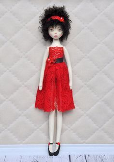 Textile doll decorative dollcollectible dolls  doll от NilaDolss
