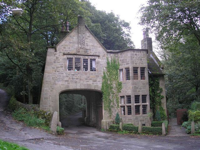 The Lodge, Cragg Vale (1906). This was the gatehouse to Cragg Hall - a manor house in Mytholmroyd which burnt down in 1921.