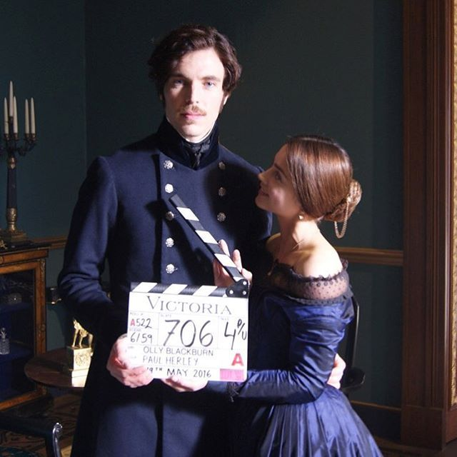 That's a wrap! Queen Victoria and her prince celebrated the end of filming yesterday... Look for #VictoriaPBS to air on MASTERPIECE on @pbsofficial in 2017. #BTS #onset cc: @jenna_coleman_