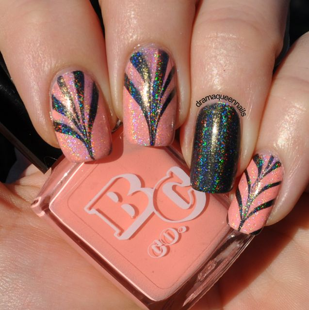 Drama Queen Nails 31dc2013 Day 20 Watermarble