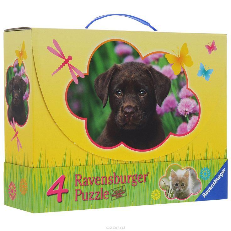 Ravensburger Детеныши животных. Пазл 4 в 1, 122 элемента