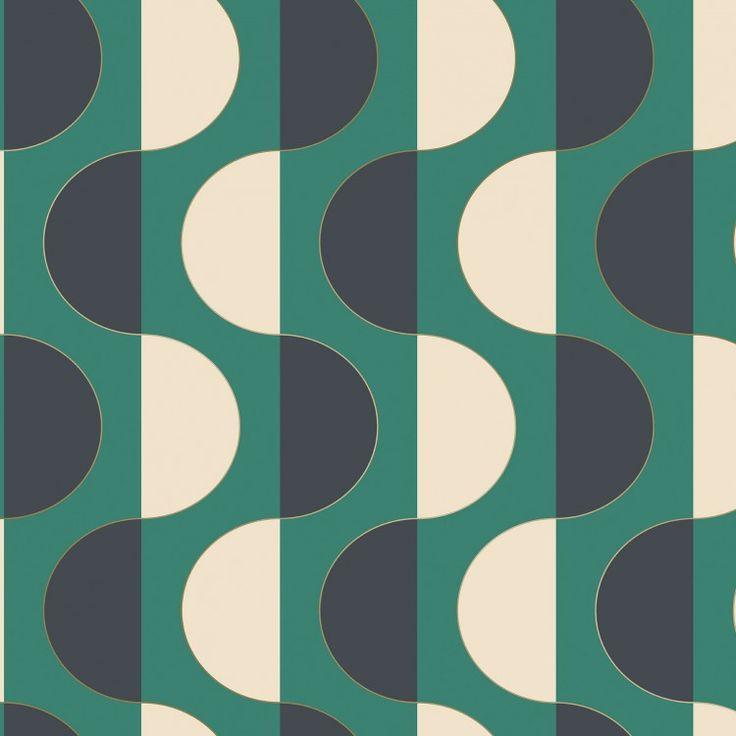 Luna emerald Self adhesive wallpaper, Adhesive wallpaper