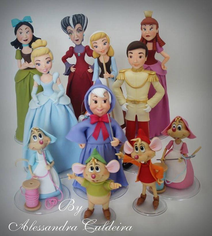 Cinderella Figures | Alessandro Caldeira | Gumpaste Figures