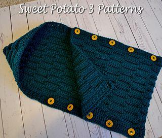 Hooded crochet cocoon Tutorial ༺✿ƬⱤღ  http://www.pinterest.com/teretegui/✿༻