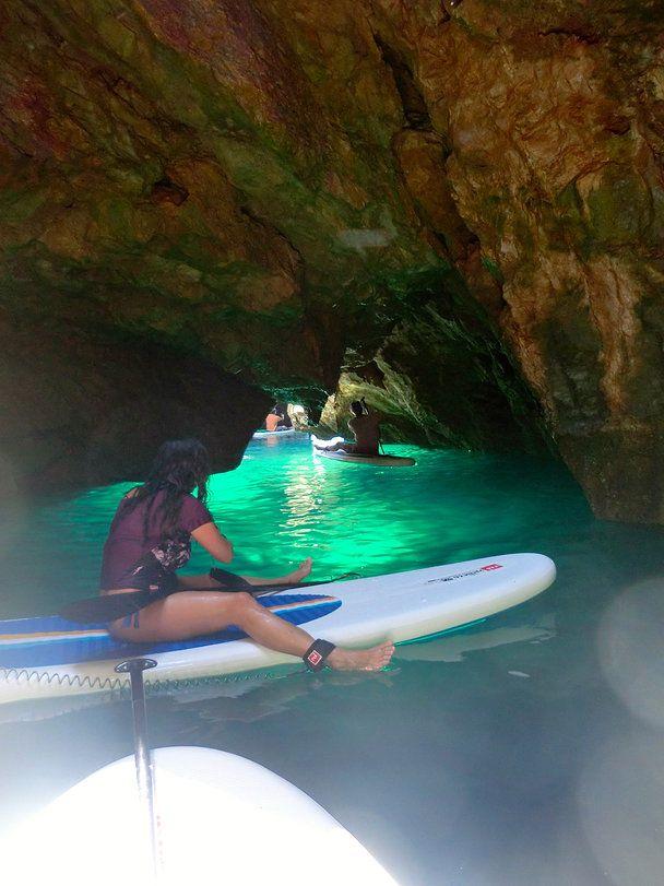 Coast & Grottoes SUP paddleboard trip | Coastline Algarve