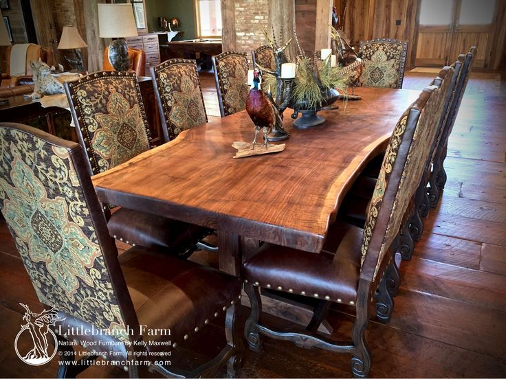 24 best Rustic Dining Room Tables images on Pinterest | Live edge ...