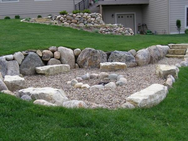 1000 ideas about rock fire pits on pinterest we watch for Landscaping rocks des moines
