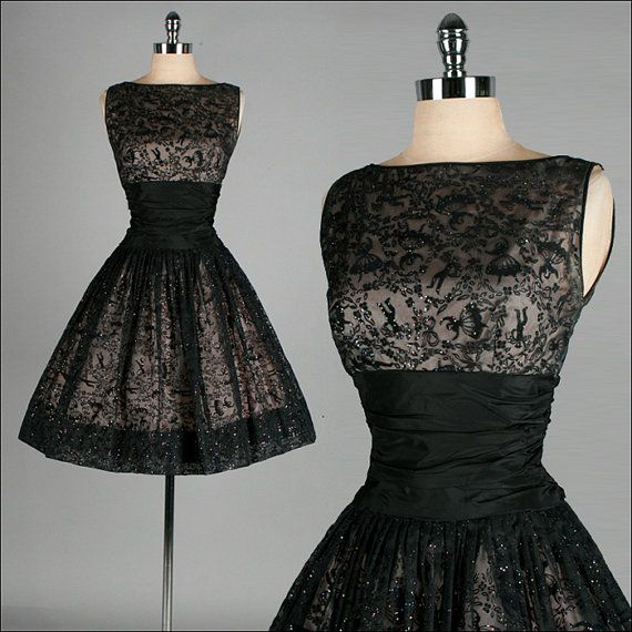 25 best vintage black dresses ideas on pinterest hourglass figure bridesmaid dresses pretty. Black Bedroom Furniture Sets. Home Design Ideas