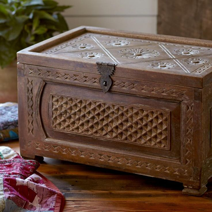 Dowry Trunk ~ Hand Crafted By Artisans In India Via Www.worldmarket.com