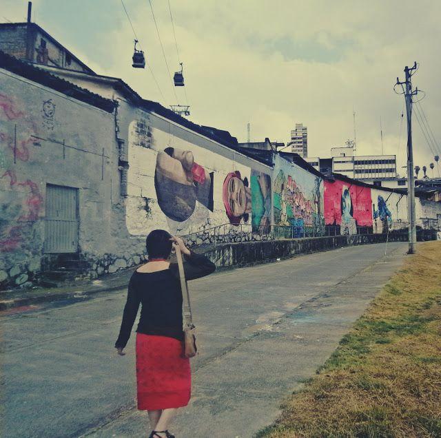 modamaria: falda roja y arte urbano