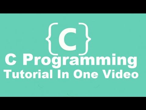 C Programming Tutorial | Learn C programming | C language - YouTube