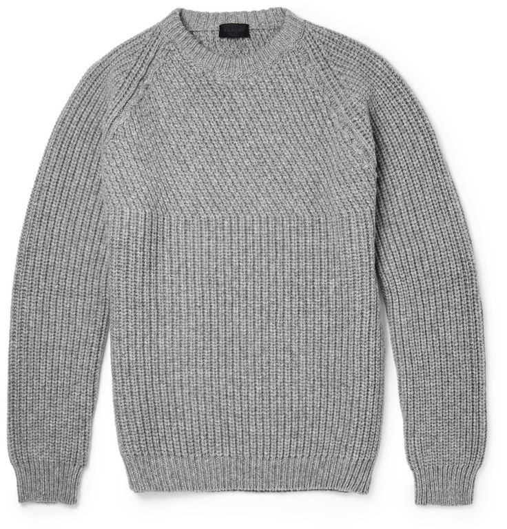 Lanvin - Ribbed Wool and Cashmere-Blend Sweater MR PORTER