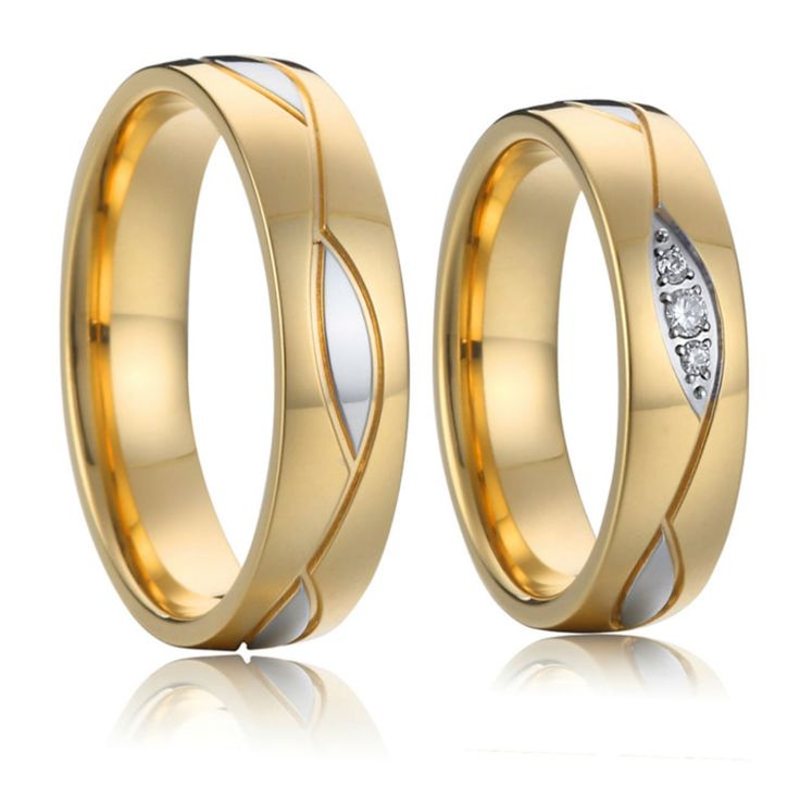 engagement wedding rings alliance high quality gold plated surgical grade stainless steel jewelry
