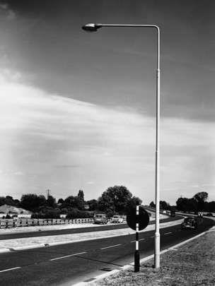 Tubular steel lighting column for Abacus. David Mellor, 1955.