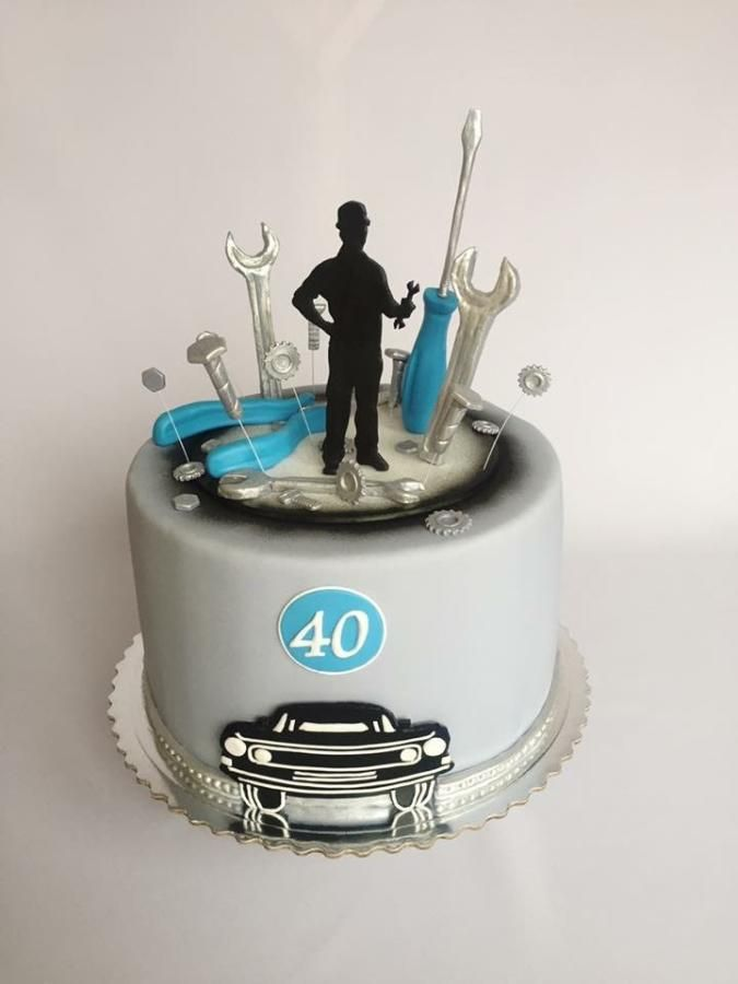 Car mechanic birthday cake